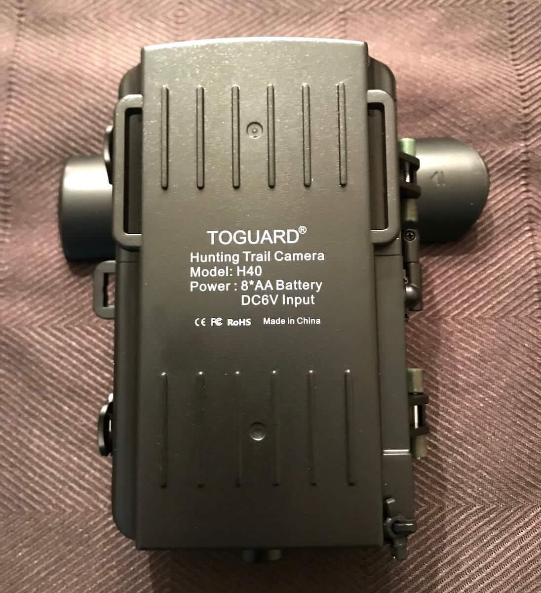 Toguard H40 Digital Wildlife Camera Back