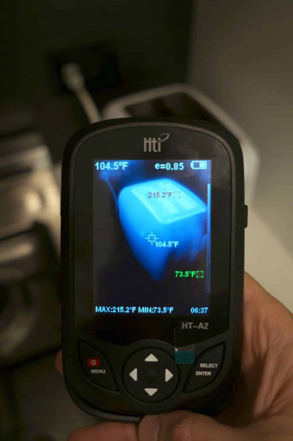 HTI HT-A2 thermal image quality