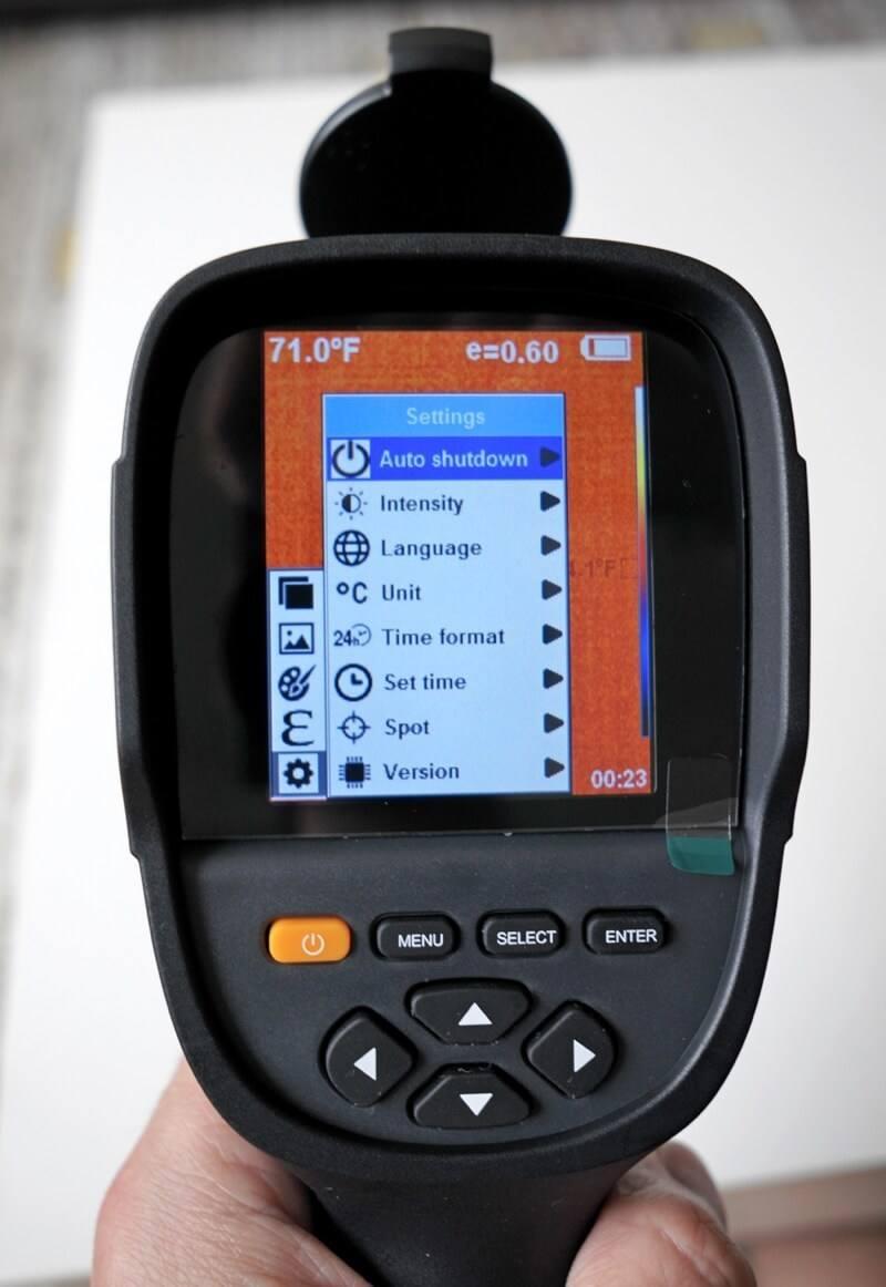 PerfectPrime IR0019 menu and settings