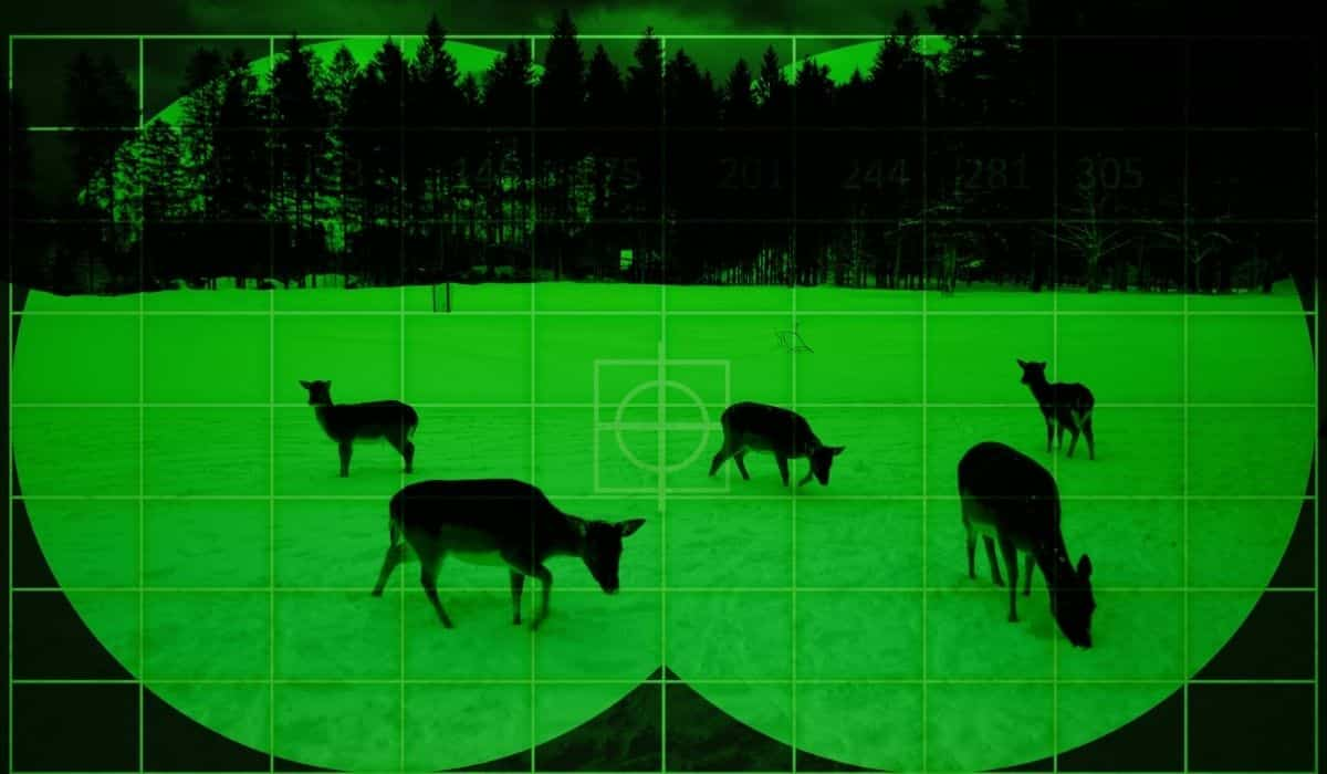 Night vision scopes and monoculars for hunting
